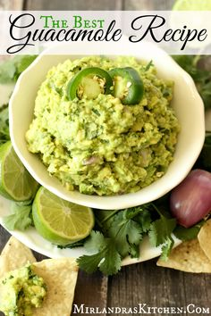 The best Guacamole Recipe you have ever tasted (and simple as all get out)!  Can you guess my amazing trick for keeping the guacamole from browning?  Hint - it is not using the pit.  I also have a cool method for mashing the avocados.  Make sure to save this one.  You will want to use it over and over, way past Cinco de Mayo.