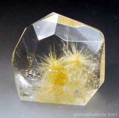 Quartz crystal w/ Rutile star inclusions- Brazil