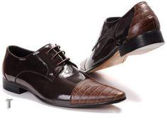 Louis Vuitton Mens Coffee Crocodile & Leather Shoes