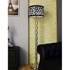 Typ : lampa podłogowa   Materiały : metal   Wysokość : 1640 mm   Szerokość : 400 mm   Ilość, rodzaj i moc żarówek : 1 x 60W żarówka E27 220-240V   Żarówka energooszczędna : TAK   Żarówka w zestawie : NIE