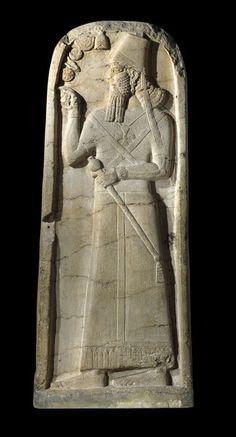 Shamshi addad  stela 820  BC  Assyrian art.