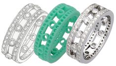 From a sketch a wax is carved that is then used in the process to create this ornate diamond wedding band.