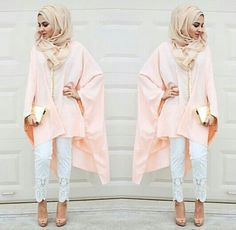 pastel peach tunic hijab look- Hijab looks by Sincerely Maryam http://www.justtrendygirls.com/hijab-looks-by-sincerely-maryam/