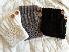 16 Free Boot Cuff Crochet Patterns - Daisy Cottage Designs ༺✿ƬⱤღ✿༻