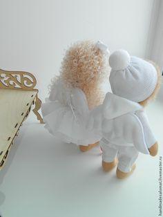 Купить Ангелочек Валентинчик - белый, кукла, кукла ручной работы, кукла в подарок, кукла интерьерная