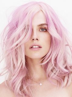 We find this mix of untoned, pink and lilac strands captivating