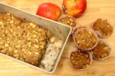 49 Dresses: Apple Oatmeal Muffins & Bread #oatmeal #muffins #baking