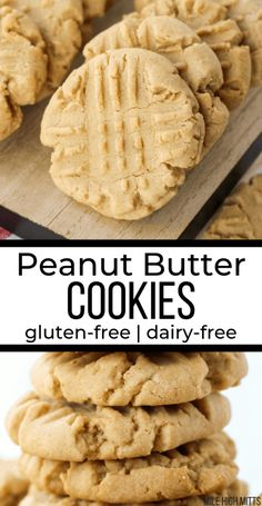 peanut free desserts For Kids - Simple, thick, soft, and a little chewy, Peanut Butter Cookies Cookies Sans Gluten, Dessert Sans Gluten, Dairy Free Cookies, Gluten Free Cookie Recipes, Bon Dessert, Dessert Simple, Gluten Free Sweets, Dessert Recipes, Gluten And Dairy Free Desserts Easy