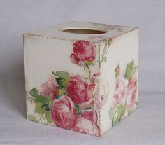 tissue box decoupage - Google Search