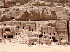 The street of Facade is lined with ancient royal tombs.