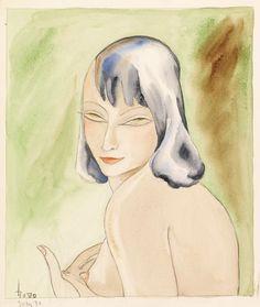 (D.I. DÖRTE CLARA WOLFF) DODO  Judy, 1933, Watercolor