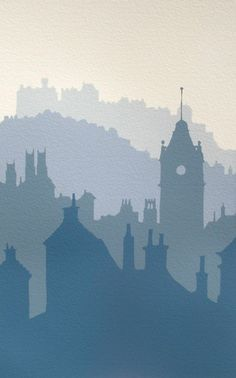 ARTFINDER: Edinburgh Morning by Ian Scott Massie – A multi-layered handmade screen print of Edinburgh – my grandfather's home town. Scotland's capital is a place of contrasts – sometimes stern and forbidding … - Ian Scott Massie - Paintings for Sale Watercolor Landscape, Watercolor Art, Monochromatic Art, Art Moderne, Art Graphique, Elements Of Art, Edinburgh, Linocut Prints, Art Plastique