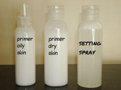 DIY Primer and Setting Spray. Best primer and setting spray recipe I've found so far. Amazing.