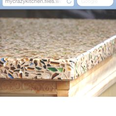 Recycled glass and concrete countertop - something different!