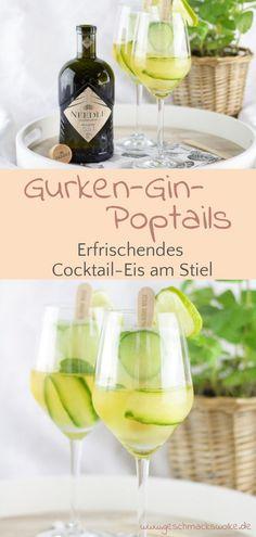[Anzeige] Gurken-Gin-Poptails - Erfrischendes Cocktail-Eis am Stiel mit Needle Gin - #poptails #gurkenginpoptails #cocktails #cocktail #cocktaileis #popsicle #eisamstiel #needlegin #gin Gin, Pop Sicle, Ice Ice Baby, Fabulous Foods, Sorbet, White Wine, Parfait, Fudge, Alcoholic Drinks