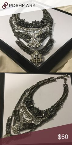 Crystal Breast Necklace Costume jewelry similar to one worn by Beyonce in her video Formation. This is good quality and metal is not cheap or plastic. Rather heavy and has substance. Jewelry Necklaces