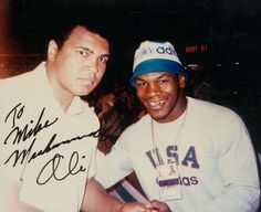 Muhammad Ali and Mike Tyson Mike Tyson, Fifa, Boxing History, Float Like A Butterfly, Boxing Champions, Vintage Black Glamour, Black History Facts, Sport Icon, Sports Figures