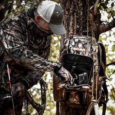 What's the item you MUST have within arms reach in the tree stand?   Check out the Bruiser pack, built in work station is clutch.   Link in bio.