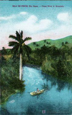 Tarjeta Postal de Cuba - Isla de Pinos, Rio Casas (Postales - Postales Extranjero - América - Cuba)
