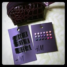 NWT H&M Accessories bundle NWT H&M 3 piece accessories bundle faux pearl colored bead stud earrings [(9 pairs!)] 30 black Bobby pins Brown Faux crocodile mini zipper coin purse/cosmetic bag  All 3 items are H&M AND BRAND NEW!  SORRY BUT ??NO TRADES?? ?NO OFFERS THIS PRICE IS ALREADY SUPER LOW H&M Accessories