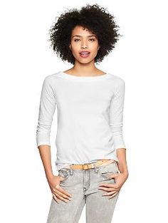 Essential boatneck tee | Gap I have in off white and in black