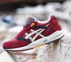 Asics Gel Saga – Burgundy / White