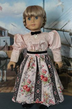 American Girl Doll Clothes Gibson Girl Pink by ForAllTimeDesigns, $58.00