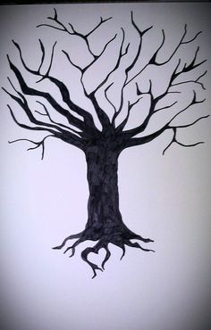 Items similar to Black and White Rooted Love Tree on Etsy