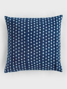 Indigo Dots Pillow by Aboubakar Fofana
