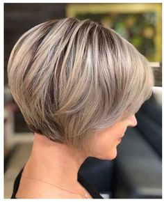 70 Cute and Easy-To-Style Short Layered Hairstyles Structured Jaw-Length Pixie Bob Short Stacked Bob Haircuts, Short Stacked Bobs, Short Bob Cuts, Short Hairstyles For Women, Hairstyles Haircuts, Short Hair Cuts, Layered Hairstyles, Quick Hairstyles, Super Short Bobs