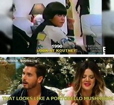Get your laugh on to these 30 hilarious Kardashian-Jenner Quotes. Kardashian Memes, Kardashian Jenner, Kourtney Kardashian, Funny Cute, The Funny, Hilarious, Scott And Kourtney, Lord Disick, Just For Laughs