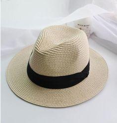summer floppy straw panama beach hats for women Jazz sunhat