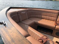 Luxury Yacht Interior, Boat Interior, Yacht Boat, Pontoon Boat, Yacht Design, Boat Design, Wooden Speed Boats, Boat Cleaning, Boat Upholstery