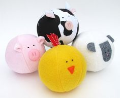 $7.50 PDF Sewing Pattern - Barnyard Animals