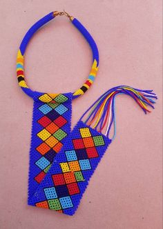 Diy African Jewelry, African Accessories, African Necklace, African Beads, Rope Jewelry, Beaded Jewelry, Handmade Jewelry, Jewelery, Beaded Choker Necklace