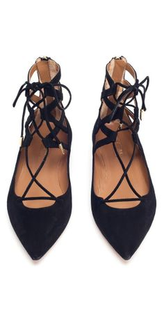 We love a pair of lace up flats