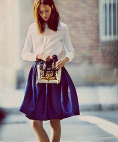 *shorten blue dance skirt for this look