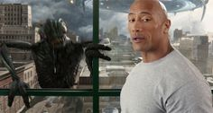 """This milkmustache.com commercial with Dwayne """"The Rock"""" Johnson has aliens attacking the earth among other silly kid oriented stuff, but I included it for the aliens..."""