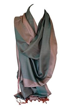 Silk Two Sided Reversible Two Tone Wrap Scarf Stole Shawl Head Scarves (Pistachio Green & Powder Pink) Bullahshah Green Powder, Powder Pink, Pistachio Green, Scarf Wrap, Shawl, Scarves, Beige, Silk, Shopping