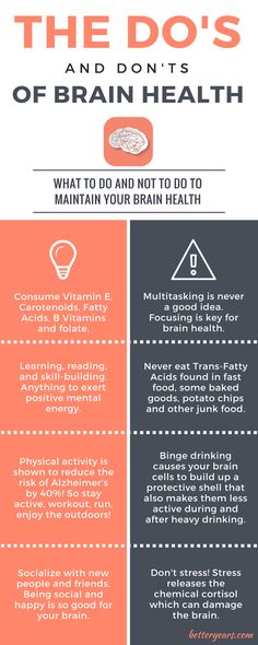 The Do's and Don'ts of Brain Health infographic