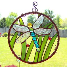 Dragonfly stained glass garden art | Flickr - Photo Sharing!