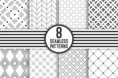 Seamless patterns set by baretsky on @creativemarket