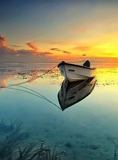 Bali Morning by Agoes Antara.  The stillness of a lake, the beauty of clear, unmoved water, is a breathtaking sight.