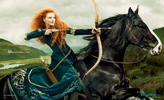 Jessica Chastain As Brave's Princess Merida Disney Campaign: See Pic - Us Weekly