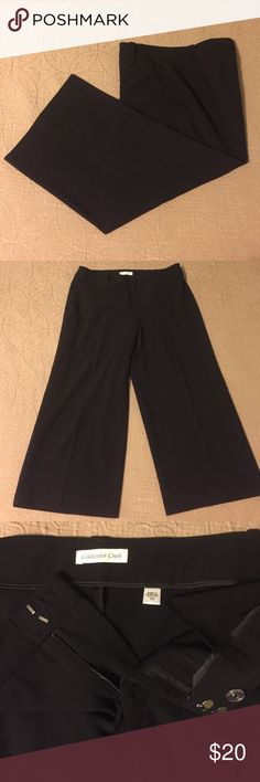 "Coldwater Creek Wide-Leg Crops Black Coldwater Creek Wide-Leg Crops.  24"" inseam.  Zipper, 2 clasp, 1 button close.  No pockets.  63% polyester, 33% rayon, 4% spandex.  Excellent used condition. Coldwater Creek Pants Capris"