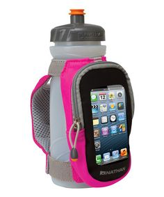 Water bottle with built-in phone pocket - Genius!