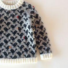 Ravelry: bird pattern by Lone Kjeldsen Knitting is a method by which string is usually Knitting For Kids, Knitting For Beginners, Baby Knitting, Ravelry, Baby Pullover, Fair Isle Knitting, Baby Sweaters, Pattern Fashion, Lana