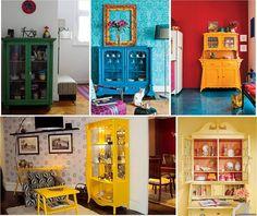 Nuevos o reformados, los muebles coloridos dan vida a los ambientes