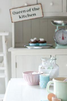 Minty House kitchen, pastels, enamel, Ib Laursen