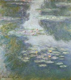 Giclee Print: Waterlilies, Nympheas Wall Art by Claude Monet by Claude Monet : Wassily Kandinsky, Van Gogh, Framed Wall Art, Framed Prints, Monet Water Lilies, Impressionism Art, Art Pages, Canvas Art Prints, Canvas Artwork